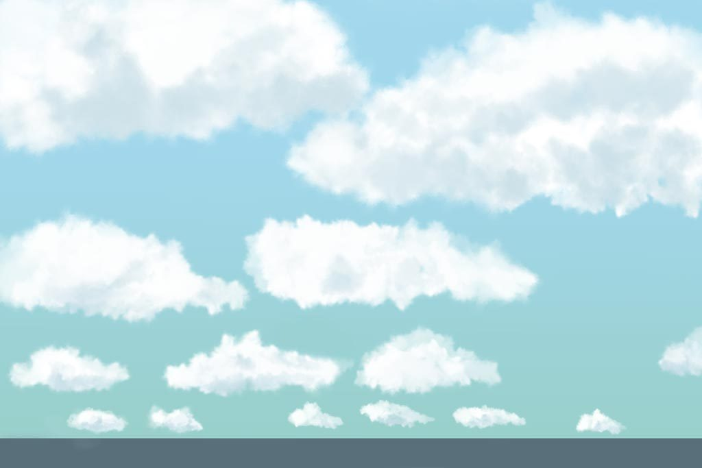 cumulus clouds forest nomad forest nomad